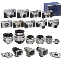 Sammlung Altix-Kameras, Objektive und ZubehörVEB Kamera- und Kinowerke, Dresden. 1) Altix 24 x 24