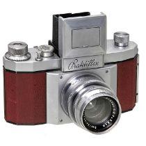 Praktiflex in Rot, um 1939K.W. (Kamera-Werkstätten Guthe & Thorsch), Dresden. Nr. 3578, Objektiv-