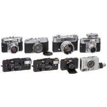 Kowa SW und 7 Kleinbild-Kameras1) Kowa Co. Japan. Kowa SW mit 3,2/28 mm, Nr. 701673. Gesuchte