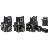 3 x Primarflex und eine OptikCurt Bentzin, Görlitz. Alle Primarflexe und deren Optiken noch ohne