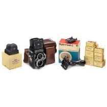 Rolleiflex 3,5 F AusrüstungFranke & Heidecke, Braunschweig. 1) Rolleiflex 3,5 F Nr. 2805379,