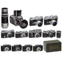 Sammlung von 10 russischen KamerasKrasnogorsk, UdSSR. 1) Kristall, Nr. 62035968 in Hammerschlag-