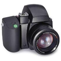 Handmuster Rollei 645, um 1980Rollei. Designstudie bzw. Dummy 1:1 einer 4,5x6cm-SLR-Kamera mit