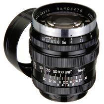 Nikkor-P. C 2/8,5 cm schwarz, für M39, um 1953Nippon Kogaku, Japan. Nr. 404476, schwarz, Leica-M39-