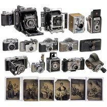 14 Kameras in anglo-amerikanischem Stil, um 1920-60Gepflegte Designsammlung eines Graphikers: 1)