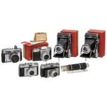 6 Royer-Kameras, 1949-59Royer, Fontenay-sous-Bois, Frankreich. 1) Royer Type II RB, 120er-Rollfilm