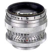 Sonnar-Typ 1,5/5 cm für Leica, ab 1946 Ohne Herstellerbezeichnung. Ohne jegliche Gravur,