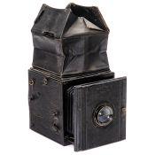 """Ica Spiegelreflex-""""Künstler-Camera"""" 753, um 1914-18 Ica, Dresden. Spiegelreflexkamera System Raupp"""