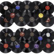 Amerikanische Jazz-, Swing- und Blues- und Unterhaltungsmusik auf Schellackplatten,um 1925-50