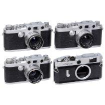 """4 Leica-Kopien und 3 Objektive 1) Nicca Camera Works. """"Tower""""-Version der Nicca 5L, Nr. 151624. (3/"""