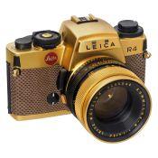 Leica R4 Gold, 1984 Leitz, Portugal. Sonder-Nr. L 004, Serien-Nr. 1651259, Objektiv Leitz Wetzlar