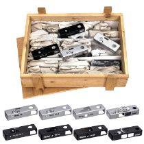 34 Deckkappen für Rollei-35-Kameras Rollei, Braunschweig/Singapur. Oberteile für Rollei 35, B 35, 35