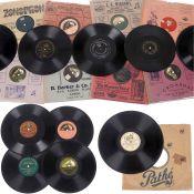 23 Schellackplatten mit frühen und seltenen Titeln, um 1905-42 1) Odeon Record 64968, Frieda