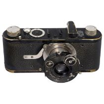 Rad-Compur Leica, um 1926 Leitz, Wetzlar. Nr. 6170, mit Elmar 3,5/50 mm in Rad-Compur, Nr. 657181,