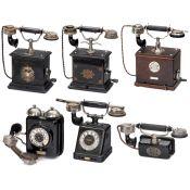 Six German Telephones