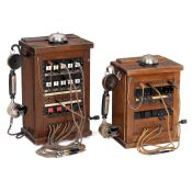 Two Telephone Switchboards of the Reich Telegraph Administration, 1917