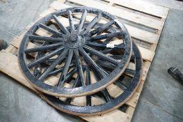 "28"" Wooden Buggy Wheels"