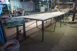 Belt Conveyor with 4 Cutoff Saws