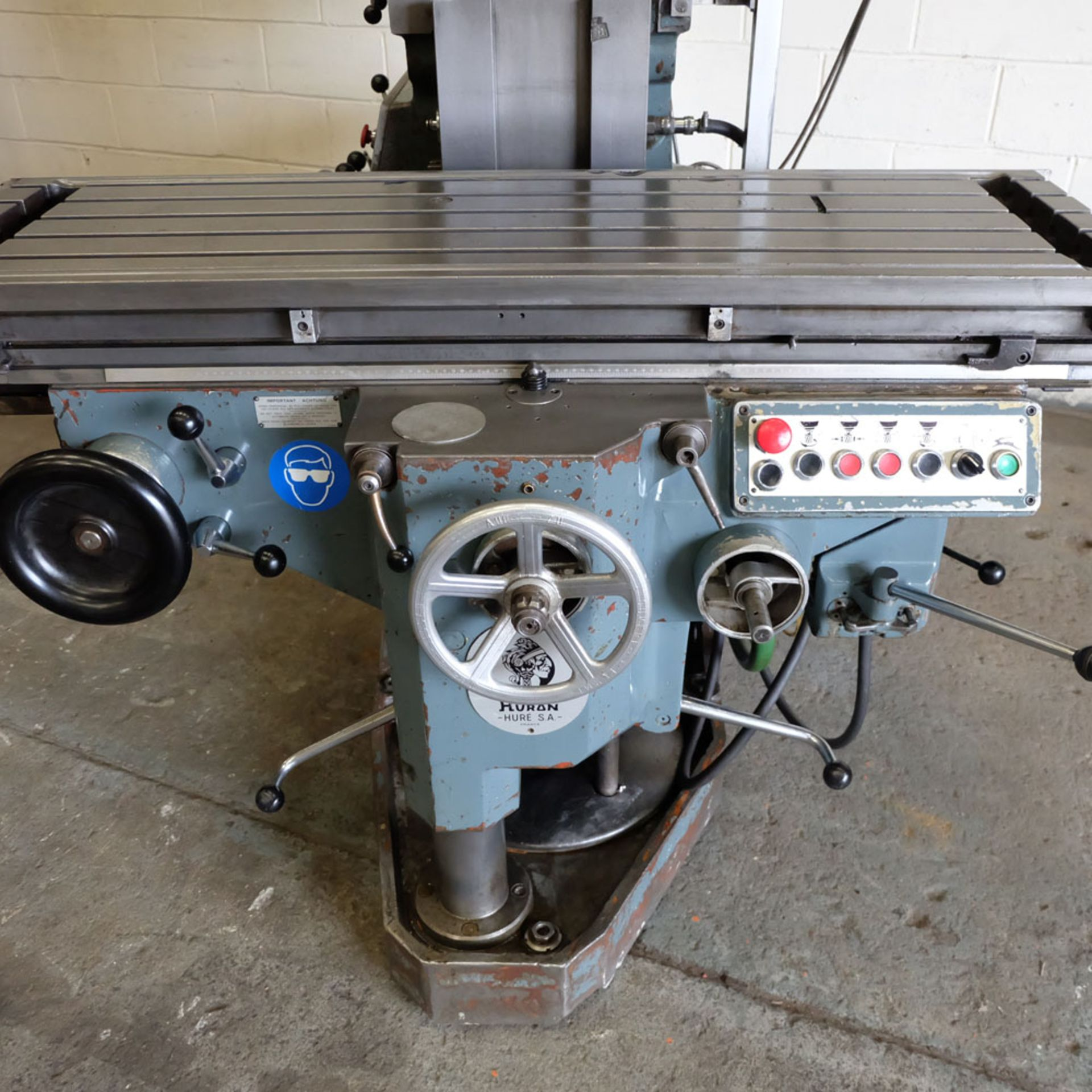 Huron NU4 Toolroom Universal Milling Machine. Table Size: 1435mm x 460mm. Taper: 50 ISO. 2 Axis DRO. - Image 3 of 6