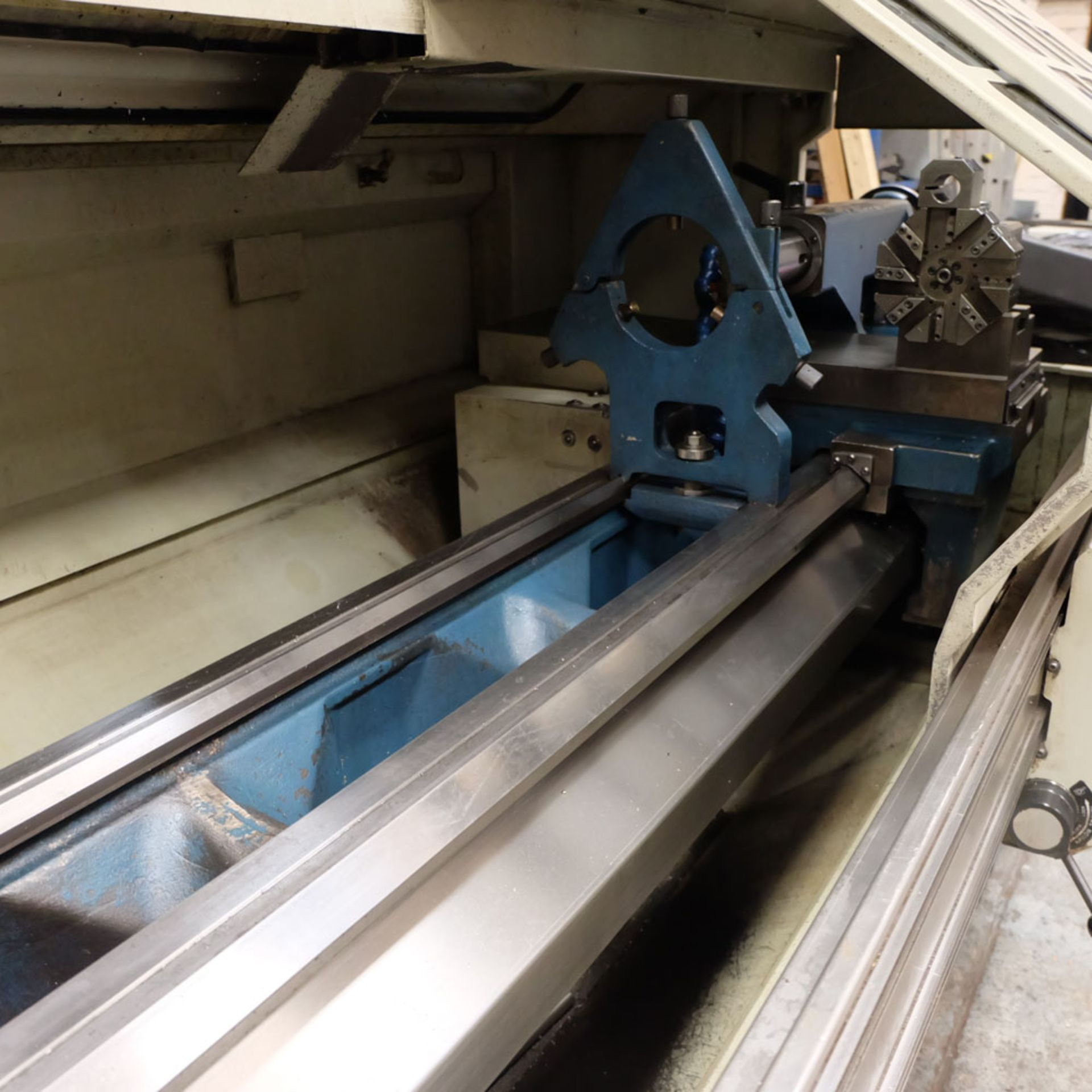 "Bridgeport Romi EZ Path IIS V3 CNC Centre Lathe. DX32R 2 Axis Control. Swing Over Bed: 20"". - Image 4 of 9"