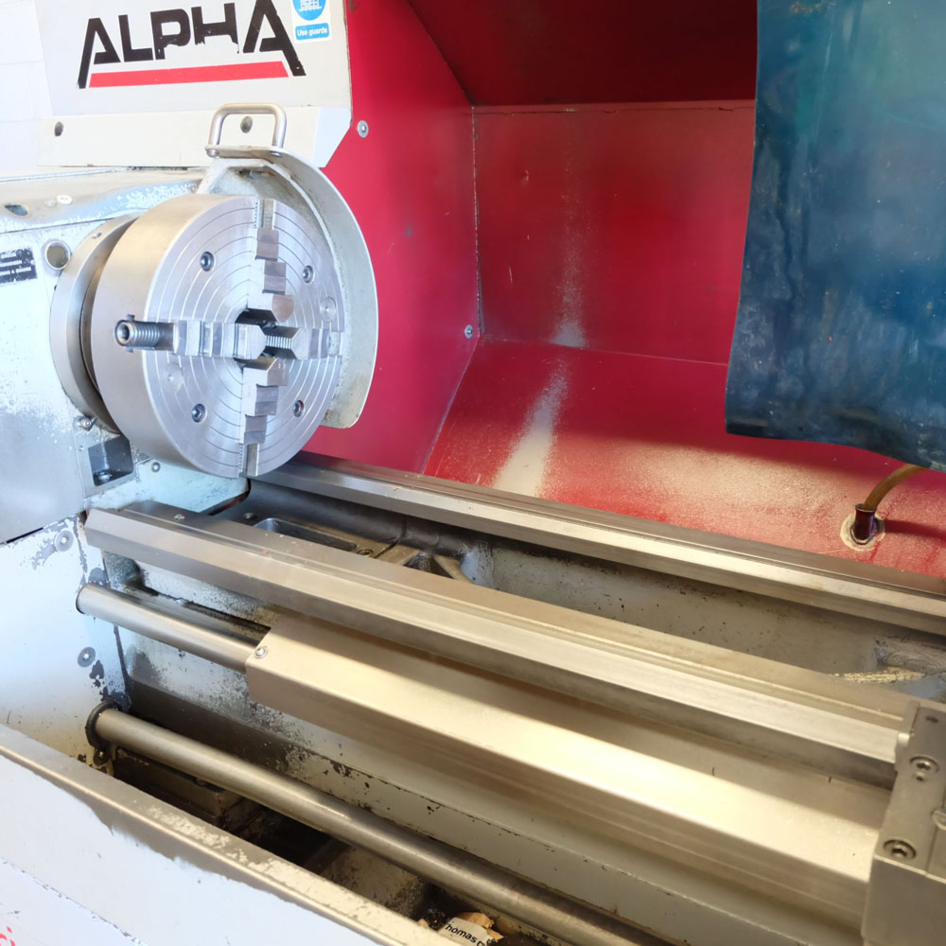 Harrison Alpha 400 CNC Lathe. Swing Over Bed: 400mm. Between Centres: 1250mm. Speeds: 15-2500rpm. - Image 3 of 8