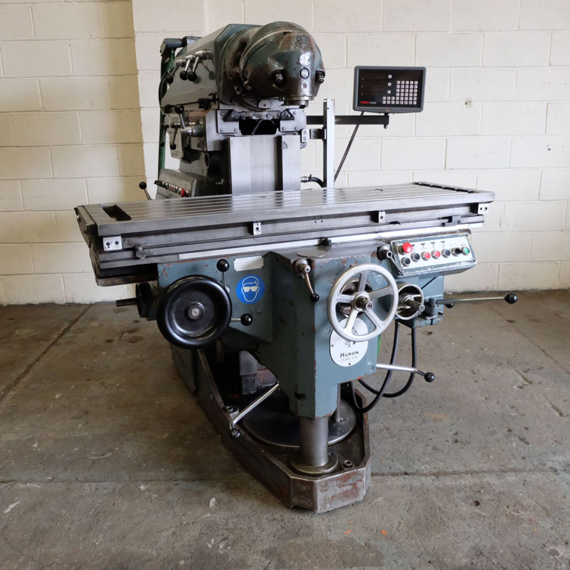 Huron NU4 Toolroom Universal Milling Machine. Table Size: 1435mm x 460mm. Taper: 50 ISO. 2 Axis DRO.