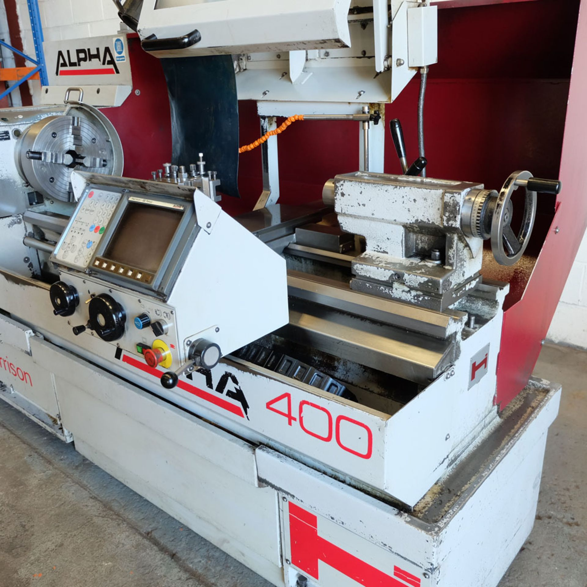 Harrison Alpha 400 CNC Lathe. Swing Over Bed: 400mm. Between Centres: 1250mm. Speeds: 15-2500rpm. - Image 5 of 8