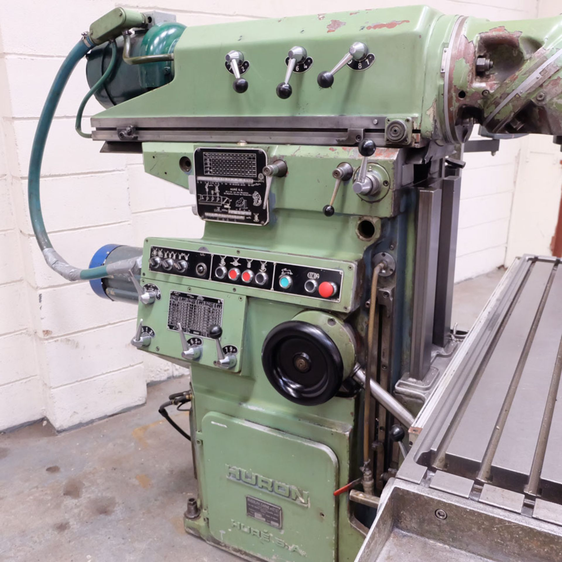 Huron NU5 Toolroom Universal Milling Machine. Table Size: 1635mm x 460mm. Taper: 50 ISO. 3 Axis DRO. - Image 4 of 6