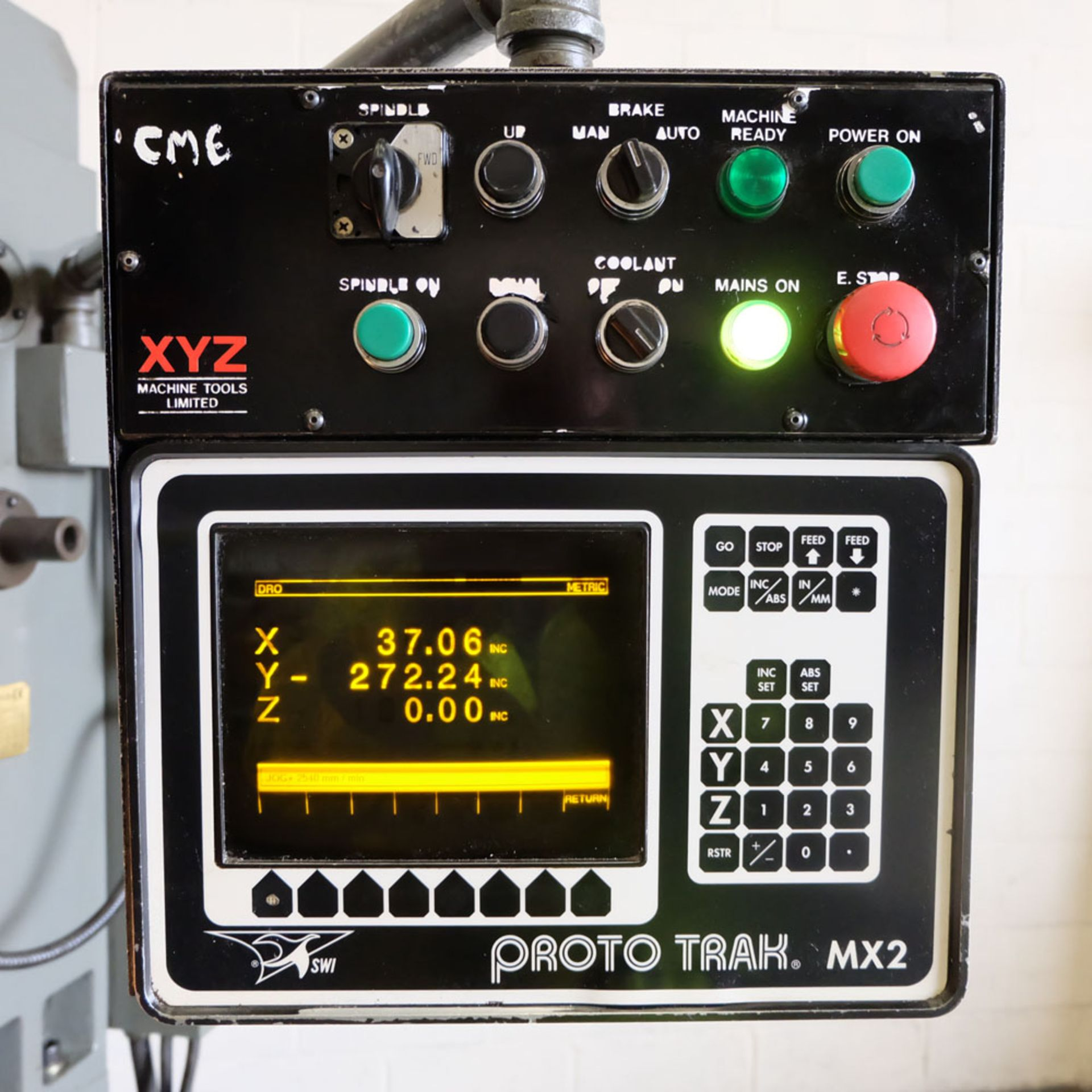 XYZ 4000 Proto Trak MX2 2 Axis CNC Bed Milling Machine. Table Size: 1480mm x 360mm. Taper 40 ISO. - Image 6 of 6