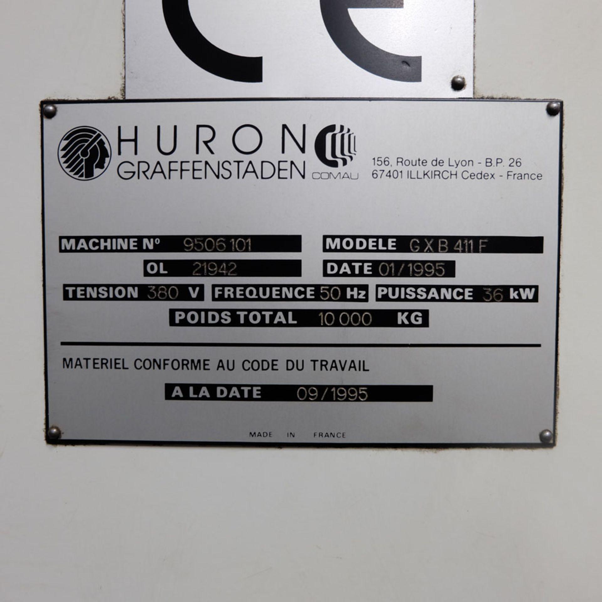 Huron GX 411 F Bed Type Milling Machine. Control Unit: CNC (HEIDENHAIN TNC 415B) - Image 10 of 12