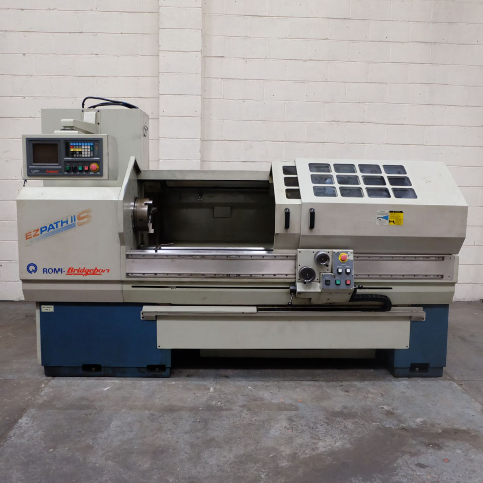 "Bridgeport Romi EZ Path IIS V3 CNC Centre Lathe. DX32R 2 Axis Control. Swing Over Bed: 20""."