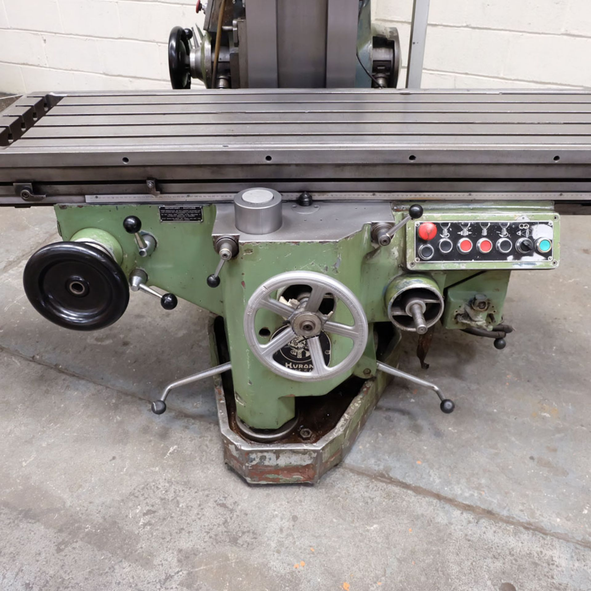 Huron NU5 Toolroom Universal Milling Machine. Table Size: 1635mm x 460mm. Taper: 50 ISO. 3 Axis DRO. - Image 3 of 6