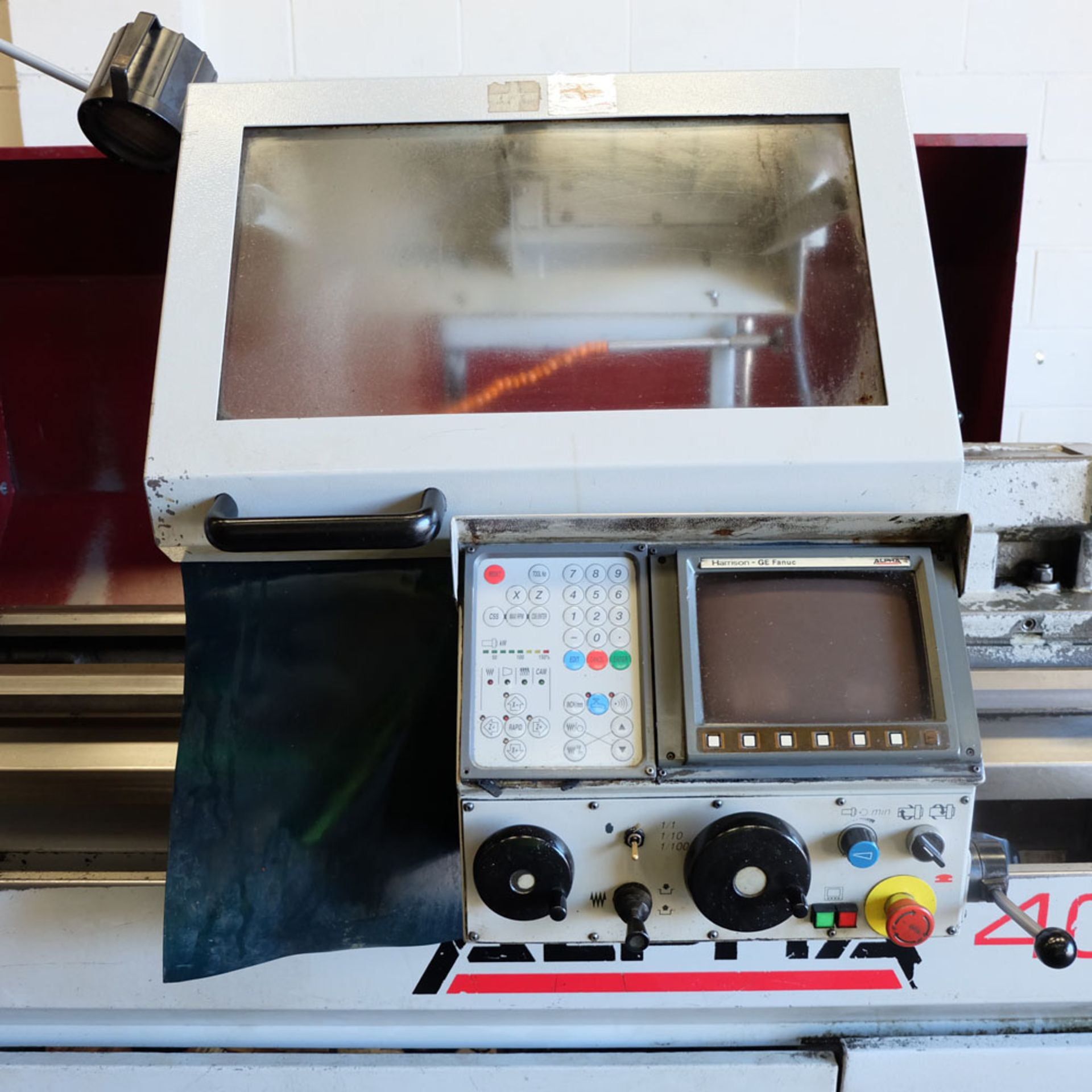 Harrison Alpha 400 CNC Lathe. Swing Over Bed: 400mm. Between Centres: 1250mm. Speeds: 15-2500rpm. - Image 7 of 8