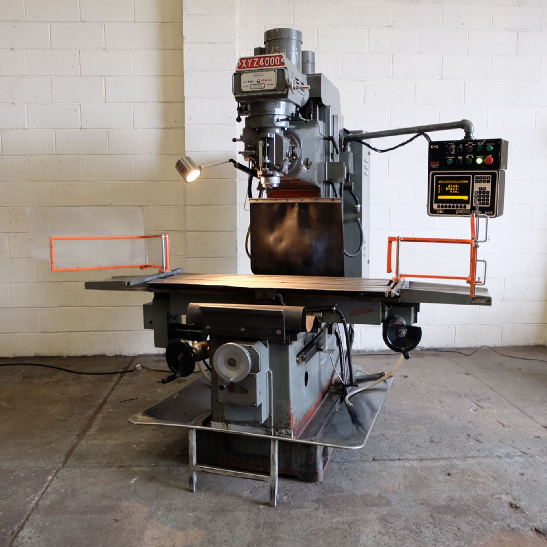 XYZ 4000 Proto Trak MX2 2 Axis CNC Bed Milling Machine. Table Size: 1480mm x 360mm. Taper 40 ISO. - Image 2 of 6