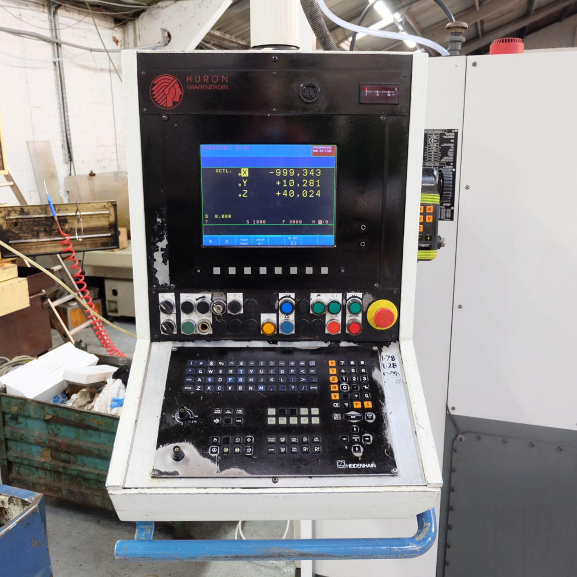 Huron GX 411 F Bed Type Milling Machine. Control Unit: CNC (HEIDENHAIN TNC 415B) - Image 7 of 12