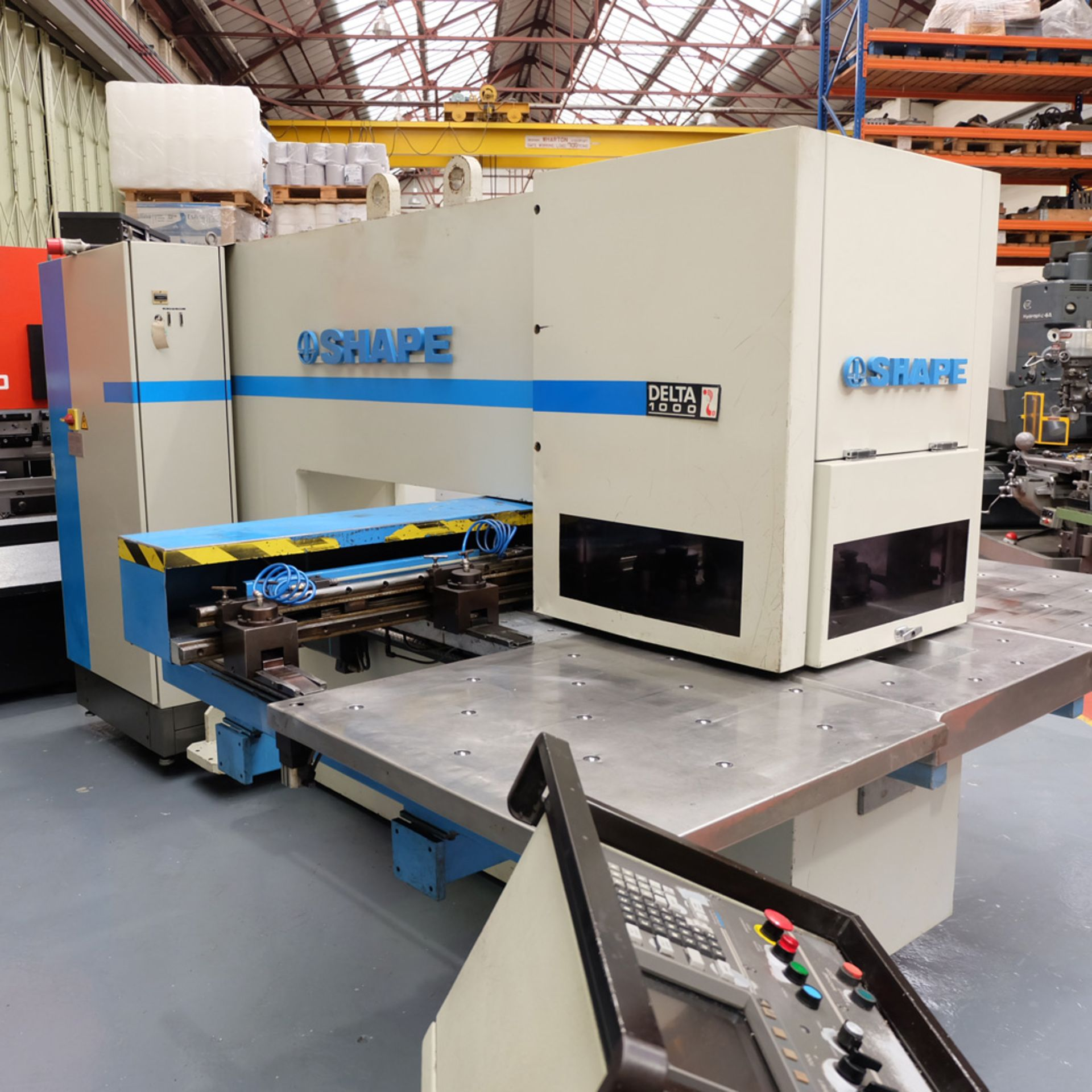 LVD SHAPE Model Delta 1000 Thick CNC Punching Machine.With Fanuc MNC 4000 Control.Capacity: 20 Tons. - Image 6 of 19