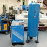 Power Systems Model PS 15-8P Rotary Screw Compressor with 500ltr Tank.