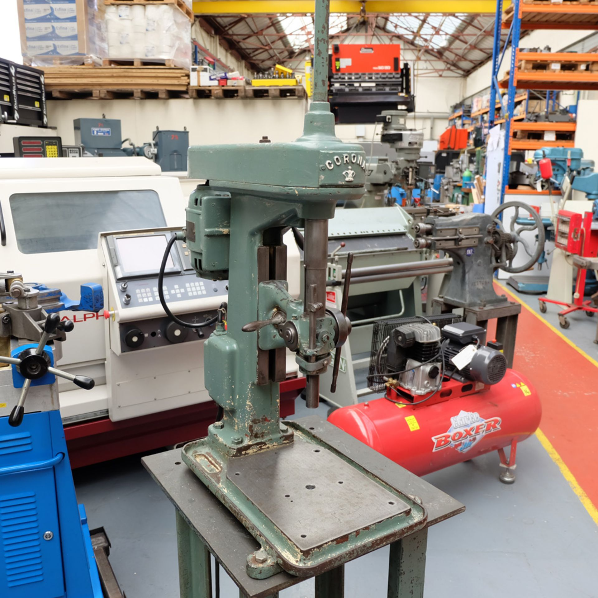 Pollard Corona Model 1FX Bench Drilling Machine. Throat 150mm. Spindle Speeds 500 - 1500rpm. - Image 2 of 7