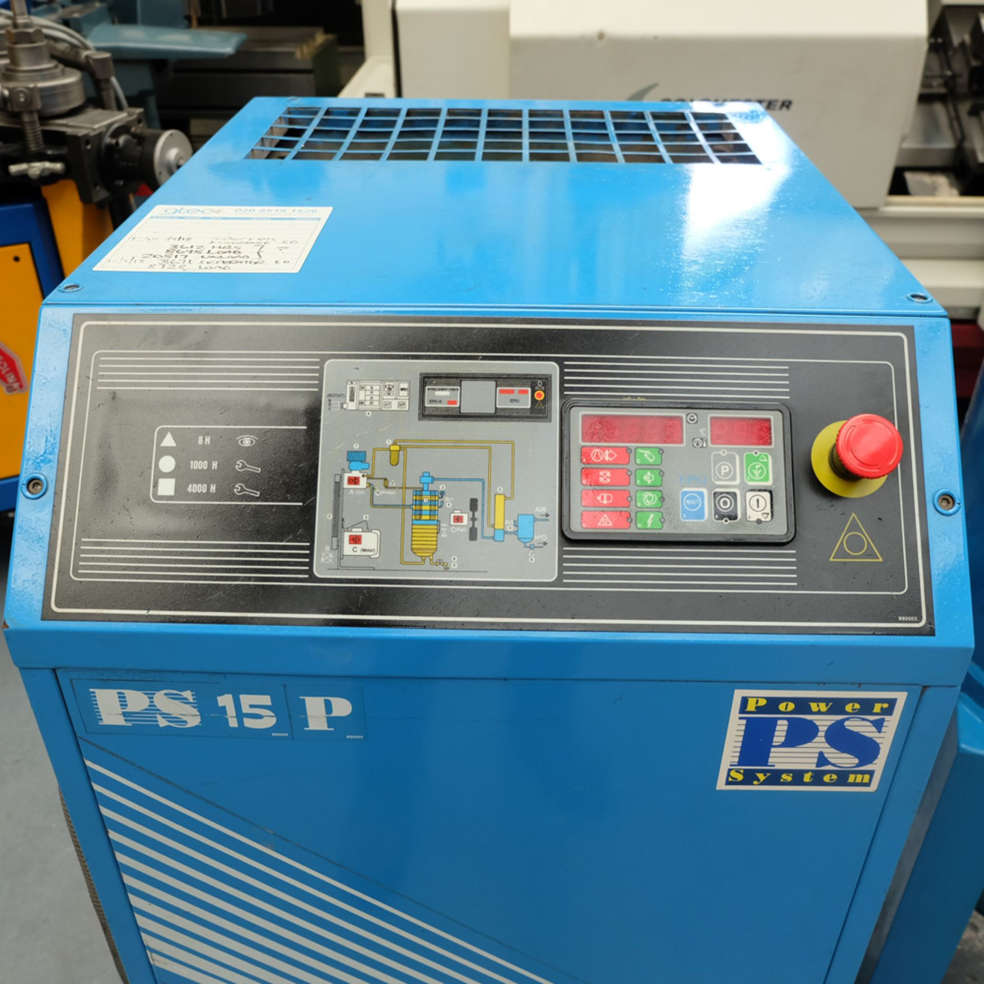 Power Systems Model PS 15-8P Rotary Screw Compressor with 500ltr Tank. - Image 4 of 8