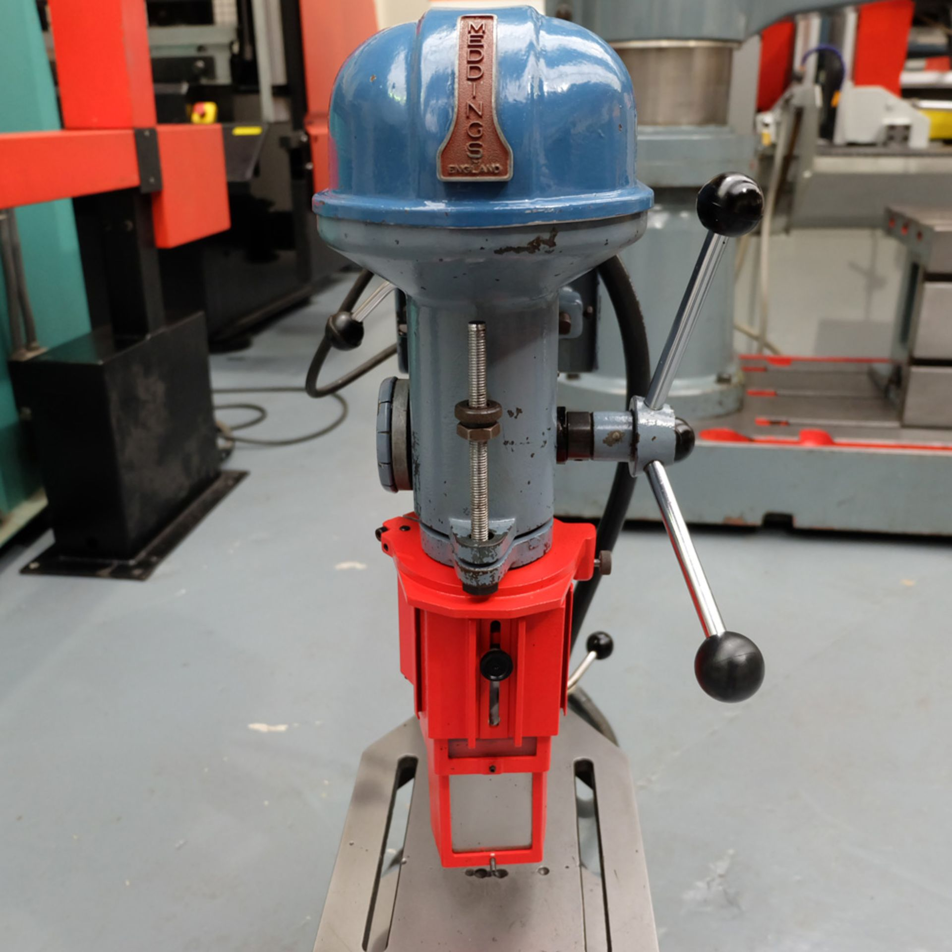 """Meddings Drilltru DTF Bench Drill. Capacity 1/2"""". Table Size 9"""" x 11"""". - Image 4 of 7"""