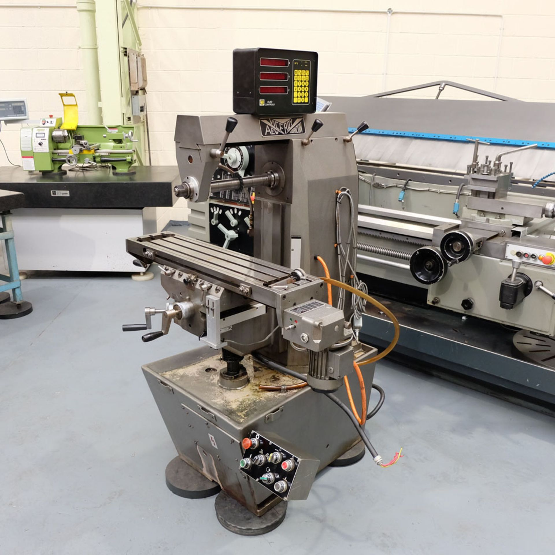 Viceroy Type AEW Horizon Horizontal Milling Machine. Taper 30 ISO. 2 Axis Digital Readout. - Image 2 of 10