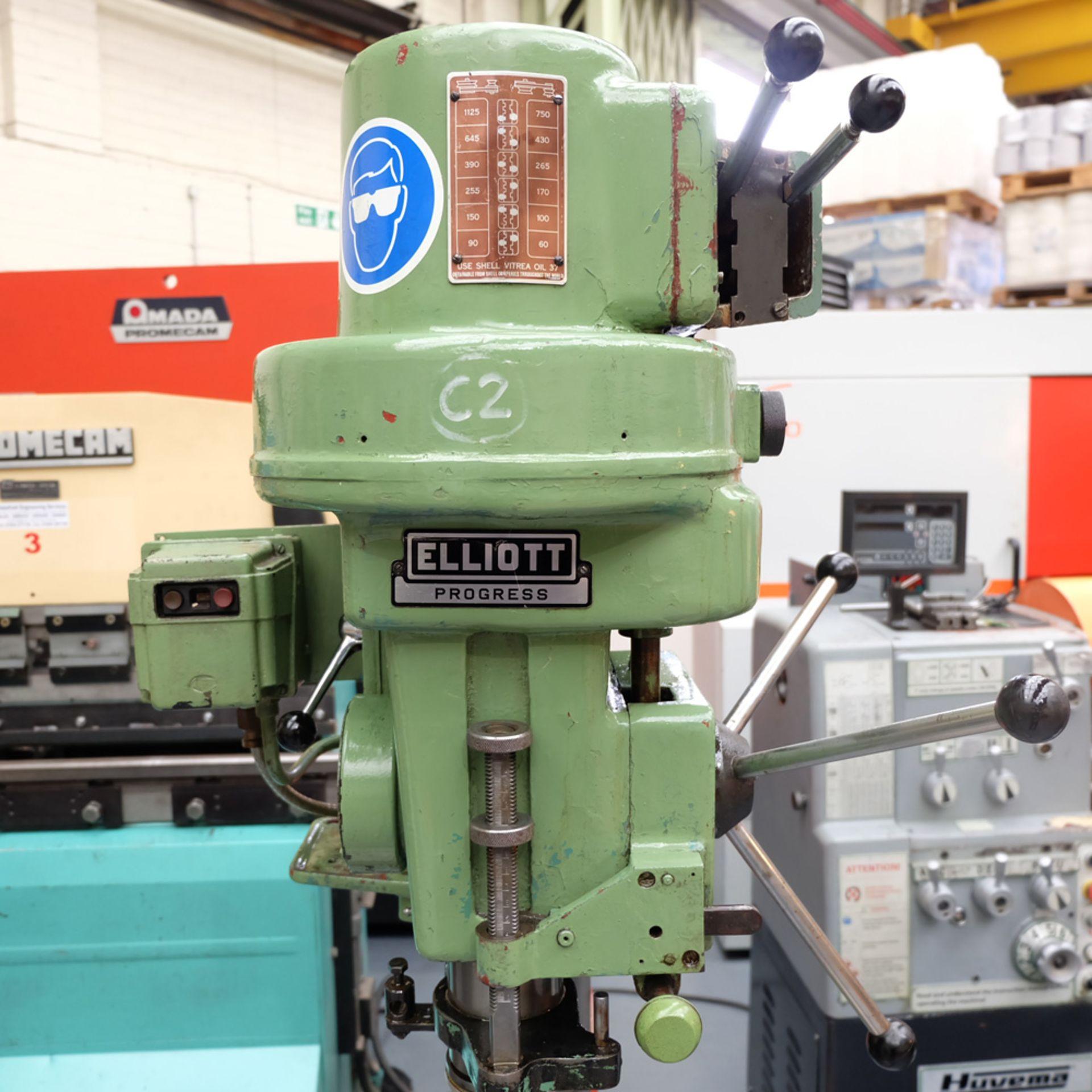 Elliott Progress 3E Gear Driven Pillar Drill. Spindle Taper No.3 Morse. - Image 4 of 8