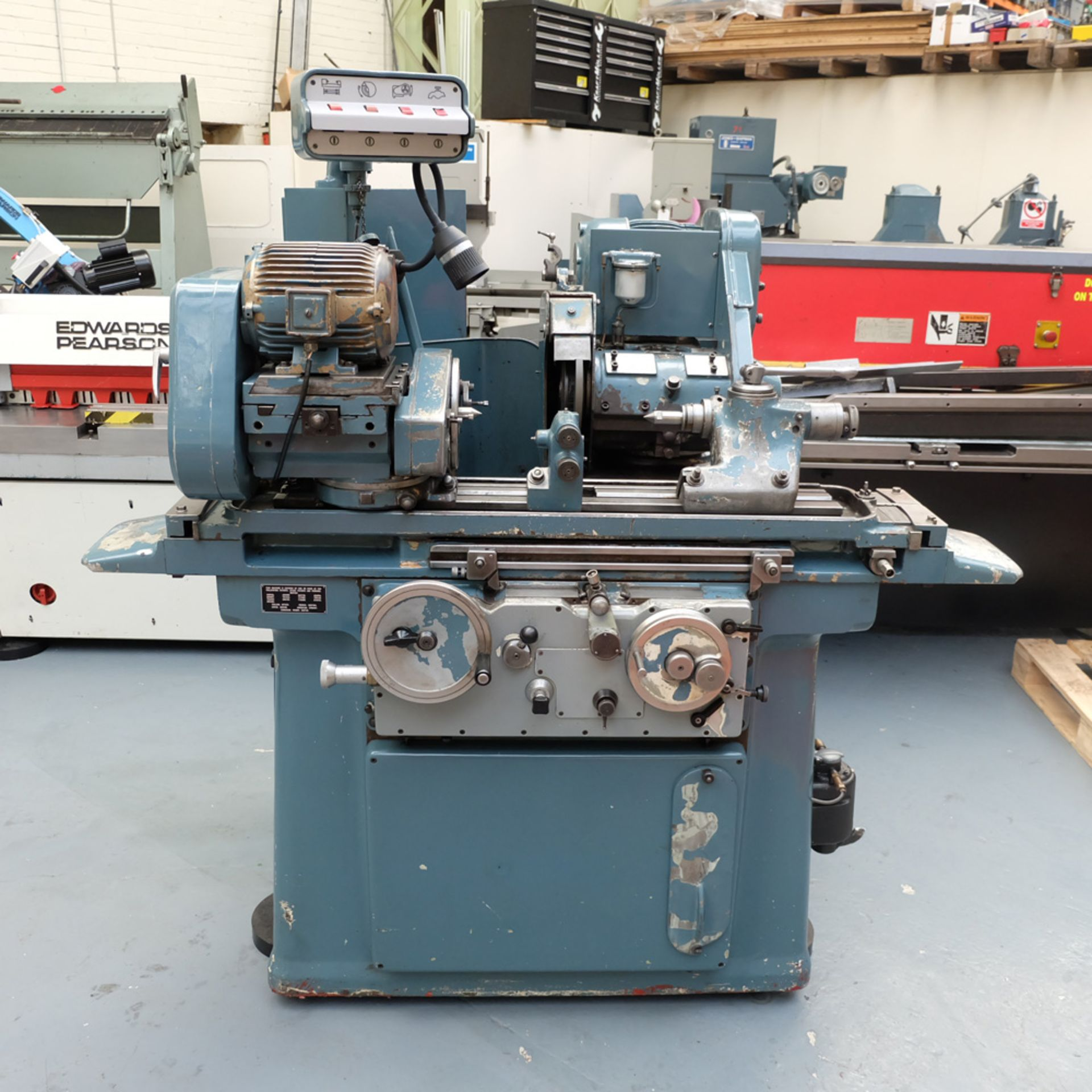 "Jones & Shipman Model 1311 EIU Universal Cylindrical Grinder. Capacity 18"" x 10""."