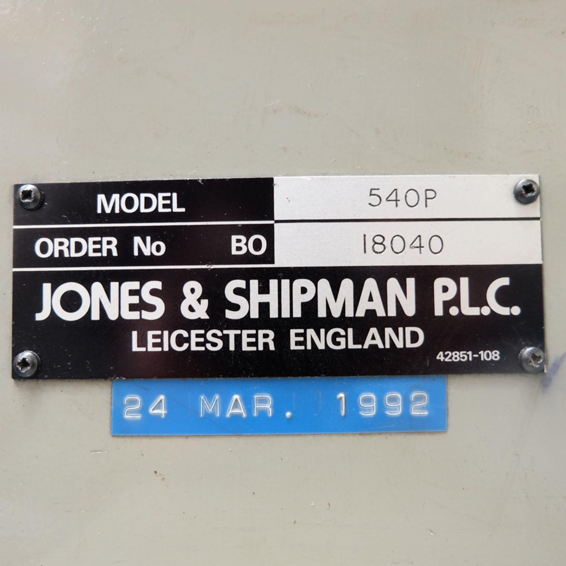 "Jones & Shipman 540L Long Column Surface Grinder. Capacity 18"" x 6"". Vertical Movement 16"". - Image 12 of 13"