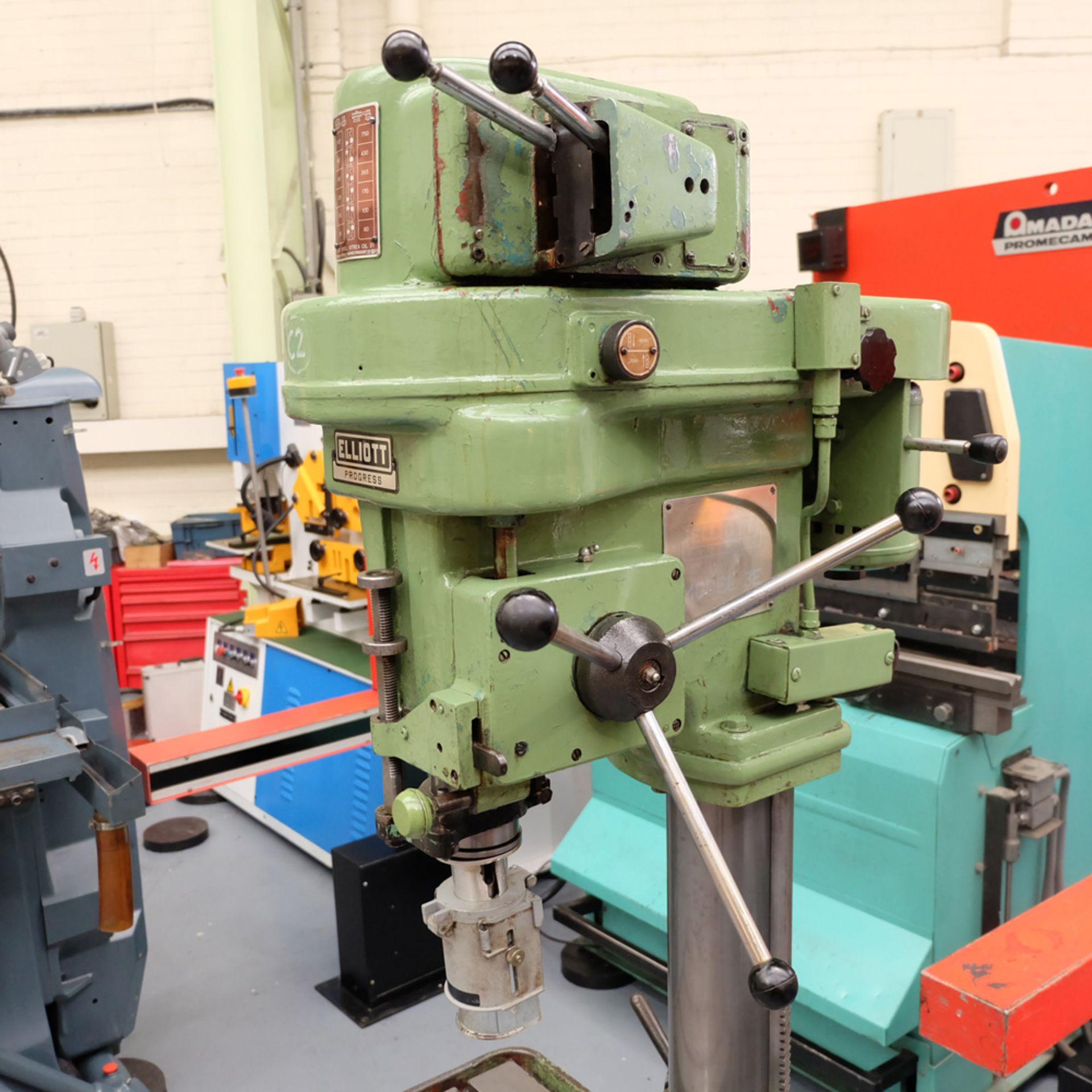 Elliott Progress 3E Gear Driven Pillar Drill. Spindle Taper No.3 Morse. - Image 2 of 8
