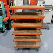 Press Brake Tooling Rack on Wheels. 6 Shelves.