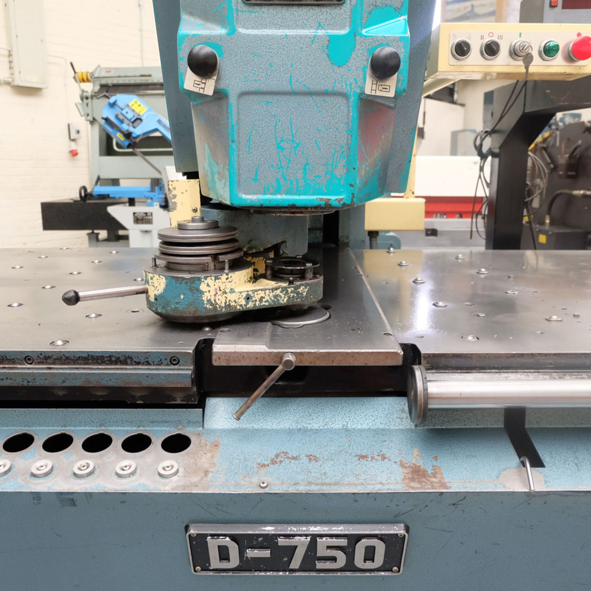 Amada D-750 Duplicator Punching Machine with Tooling and Digital Readout. - Image 2 of 8