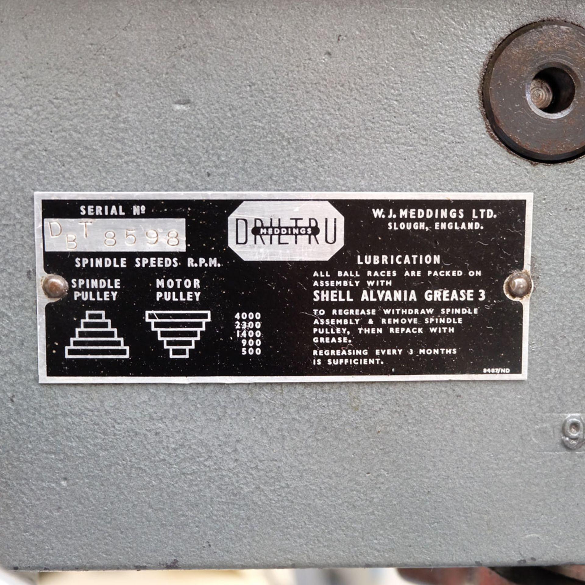 "Meddings Type Driltru Pillar Drill. Capacity 1/2"". 5 Speeds 500 - 4000rpm. - Image 4 of 7"