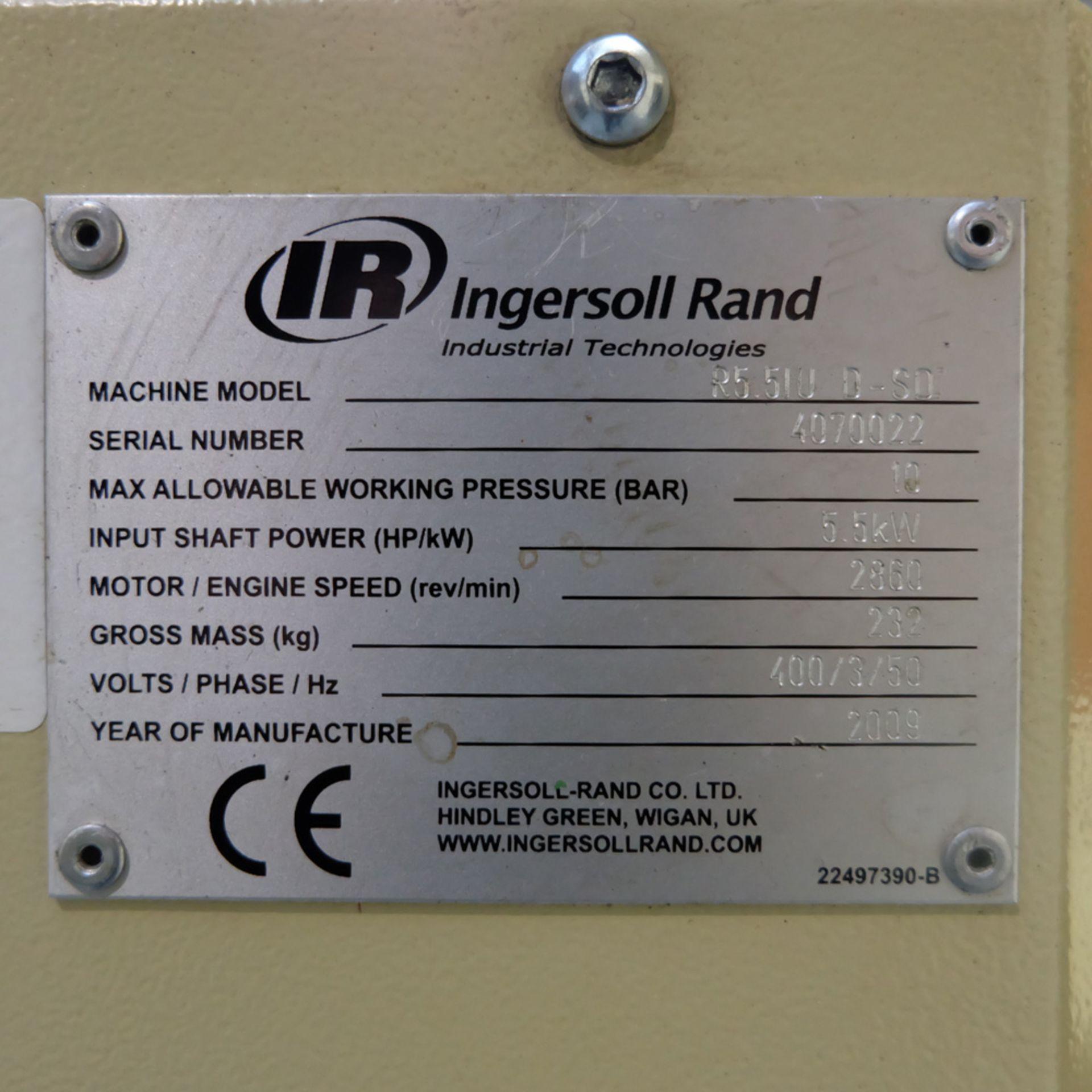 Ingersoll Rand Model R5.5IU D-SD Rotary Air Compressor. Working Pressure 10 Bar. - Image 7 of 9