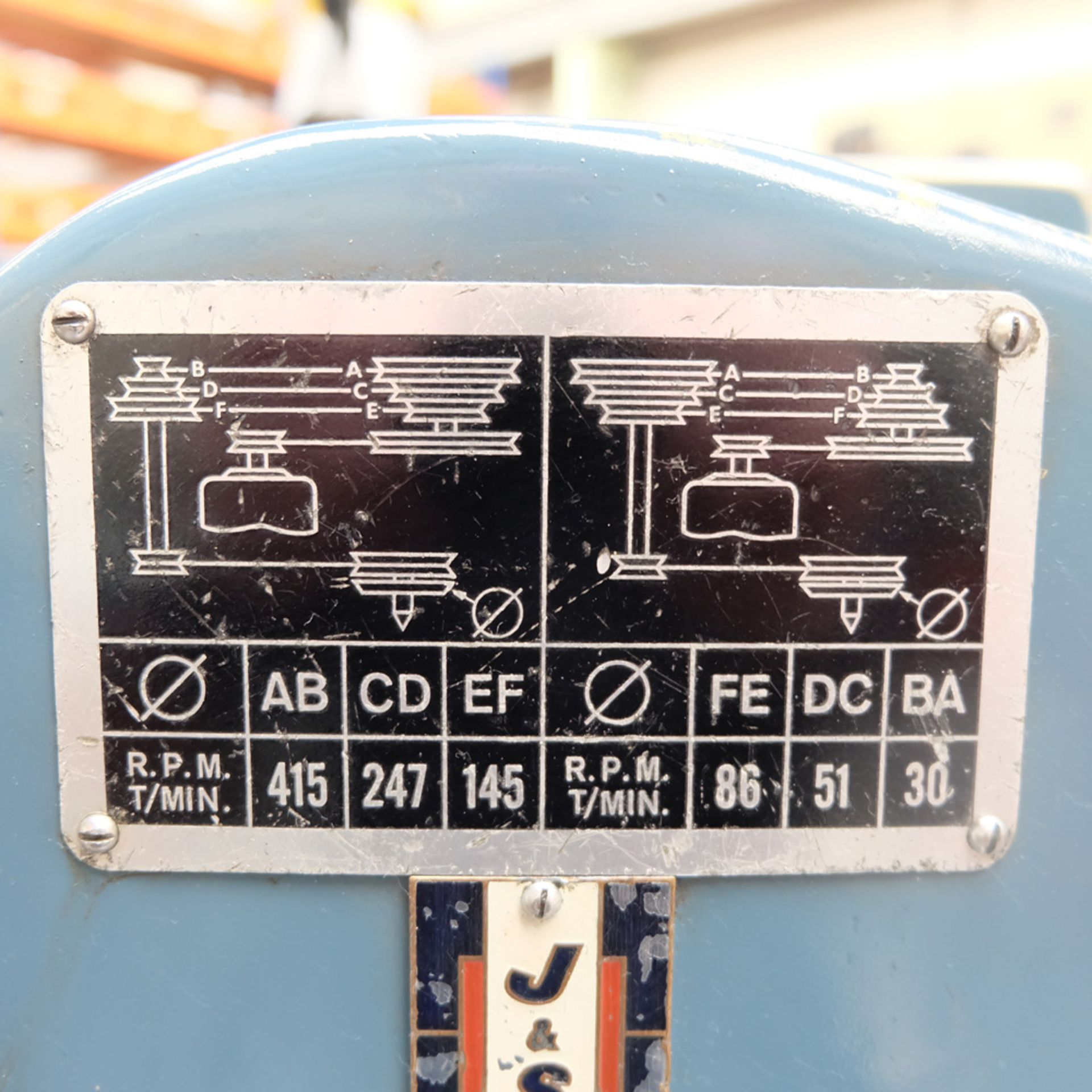 "Jones & Shipman Model 1310 EIU Universal Cylindrical Grinder. Capacity 18"" x 8"". - Image 10 of 11"